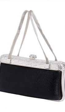 Swarovski-Topped-Lizard-Evening-Bag-Mesh-Handles