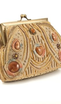 Vintage-Style-Evening-Purse-Cabochon-Beads