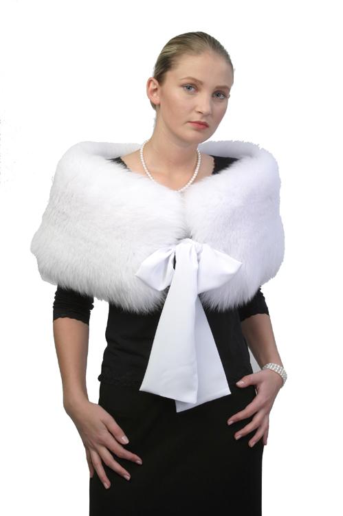 fur capelet-fox fur caplete stole-natural fur capelet stole