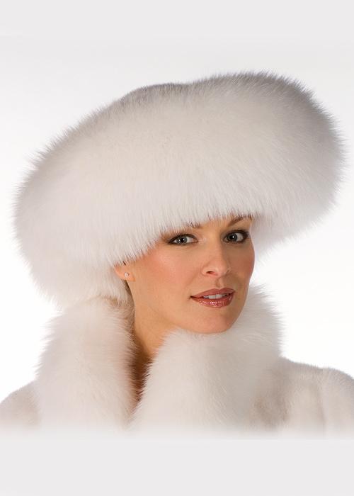 fox and mink hat-real mink fur hat-large brim fur hat