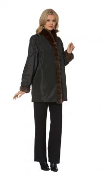 sheared mink jacket-reversible-sable trimmed