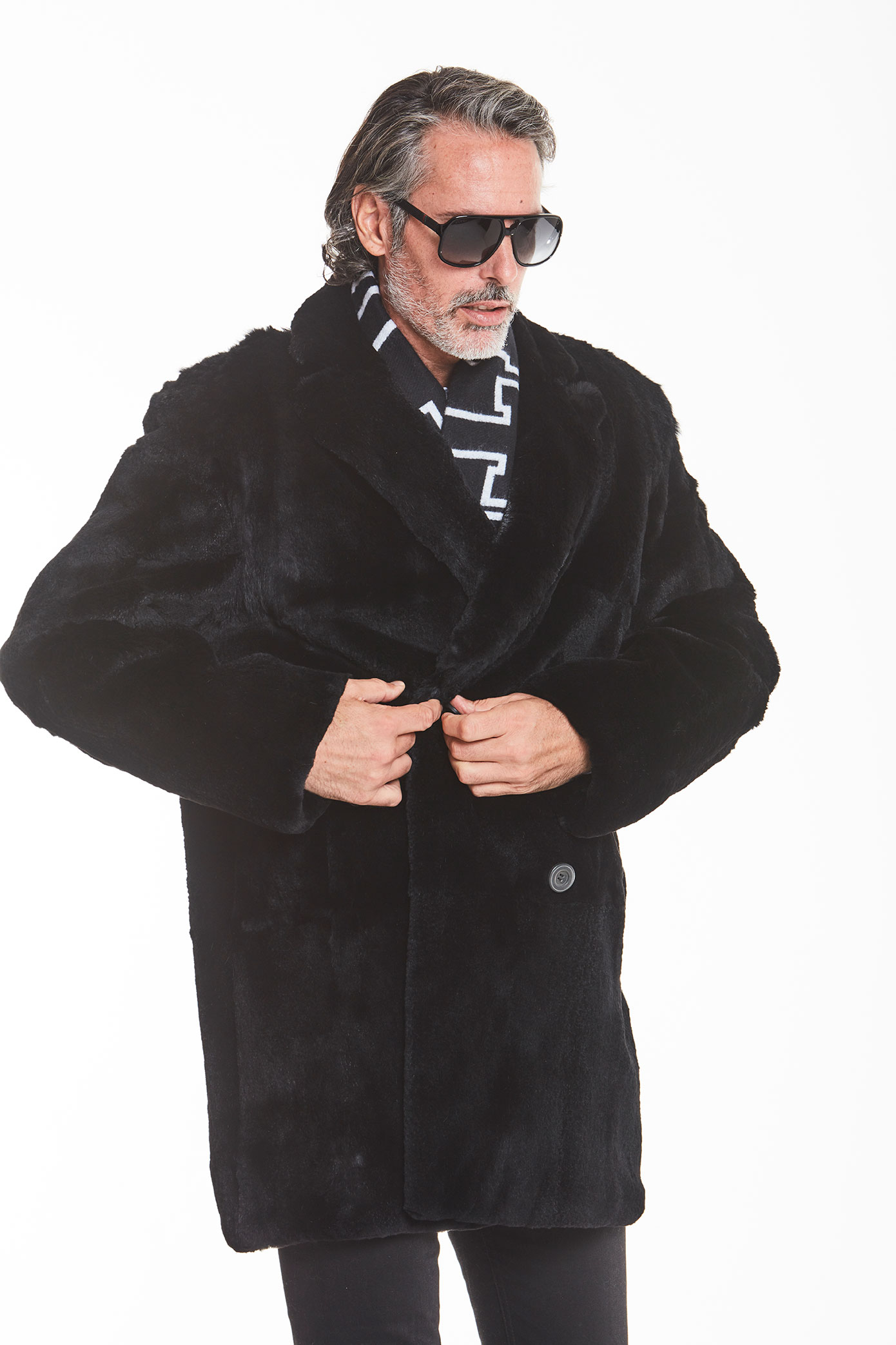 men's-black-fur-jacket