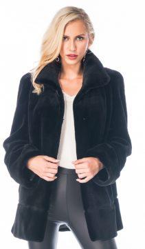 real rex rabbit fur coat-black rabbit fur jacket-meringue