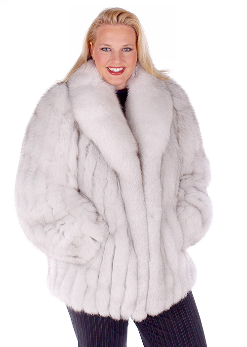 Blue Fox Fur Jacket Plus Size – 29 | Madison Avenue Mall Furs ...