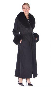 black cashmere coat womens