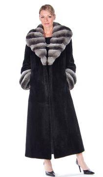 Chinchilla-Collar-Black-Sheared-Mink-Coat