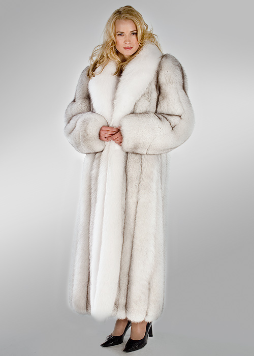 Fox Coat Natural White Natural Blue 52 Madison Avenue