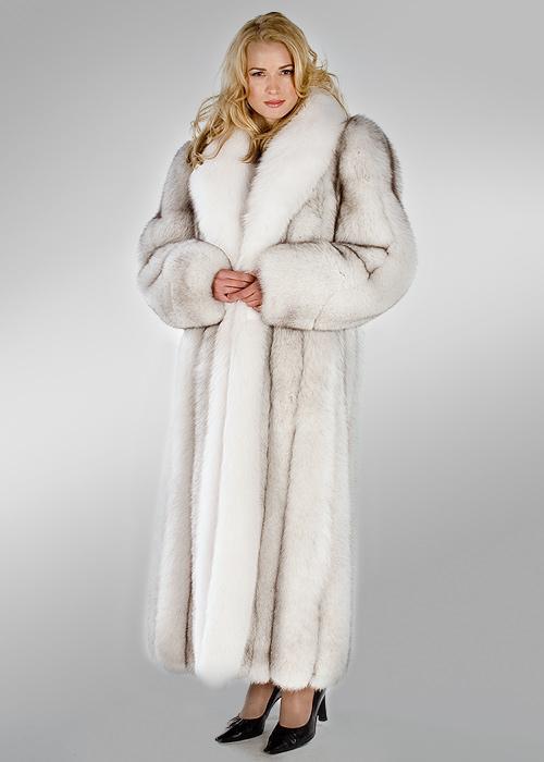 Genuine Natural Blue Fox Fur Coat With, White Fox Fur Coat Cost