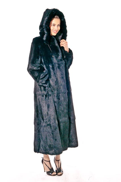real rex rabbit fur-rabbit fur coat with hood-plus size
