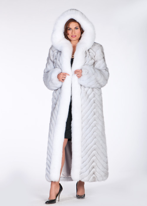 Hooded Fox Coat – White Fox Blue Fox Plus Size | Madison Avenue ...