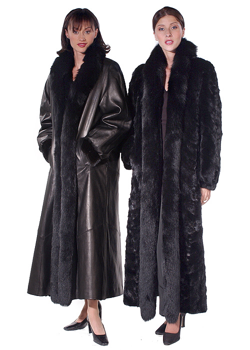 Leather Reversible Fur Coat – Fox Trimmed | Madison Avenue Mall ...