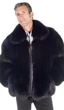 fox fur jacket for men-real fox jacket-black fox fur-natural fox fur jacket