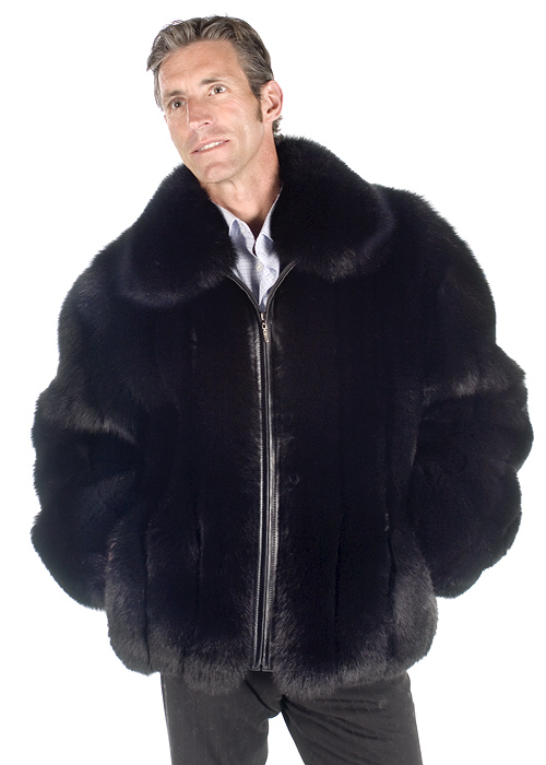 fox fur jacket for men-real fox jacket-black fox fur-natural fox fur jacket