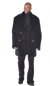 black genuine fur car coat-ranch rabbit-black rabbit car coat