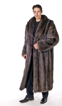 Mens-Raccoon-Fur-Coat-Natural-Raccoon