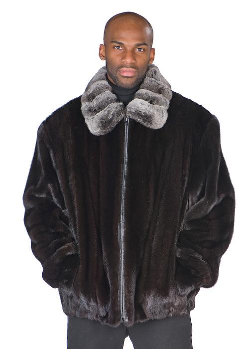 Men s Ranch Mink Jacket – Chinchilla Collar  abc21fe76cf4