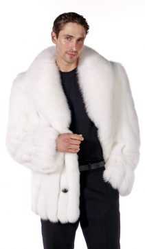 mens real fur jacket-fox fur jacket for men-genuine fox fur jacket-fox fur jacket white