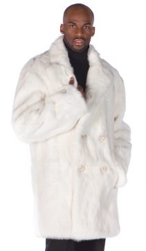 natural white rabbit fur car coat men's-genuine rabbit fur coat white
