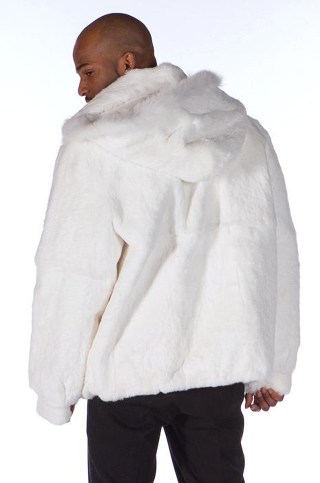 bf32afe869bb ... Mens White Fur Zippered Jacket Detachable Hood. Sale! Enlarge Photo.  Enlarge Photo. Enlarge Photo