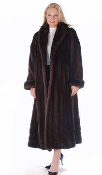 full length mink coat-mahogany mink-plus size-wave design