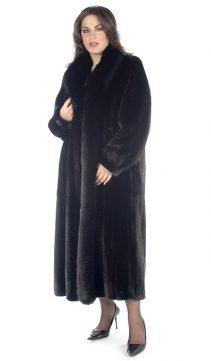mink coat with fox trim-ranch-plus size