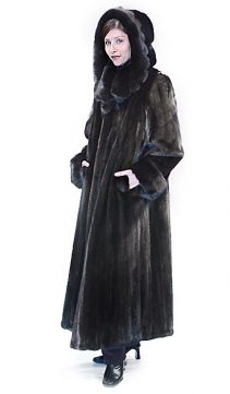 natural mink coat with hood-scalloped hood and collar
