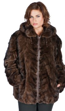genuine mink parka-mahogany-sculptured mink-plus size jacket