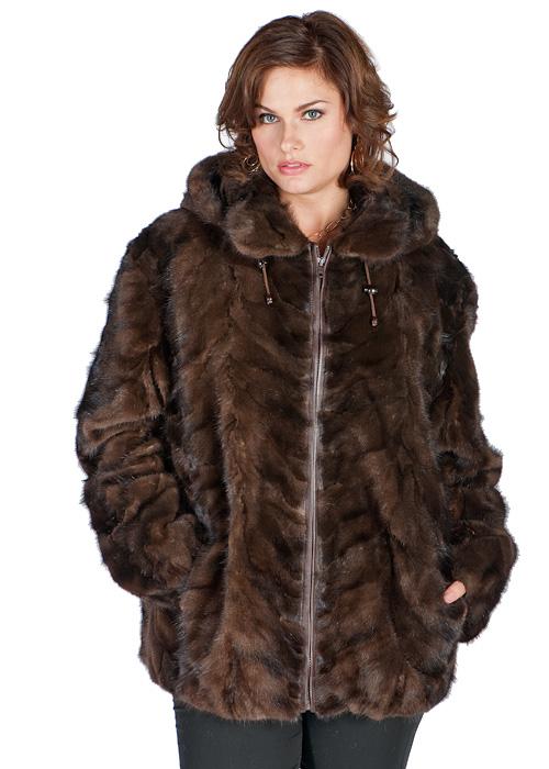 genuine mink parka-mahogany-sculptured mink-plus size jacket