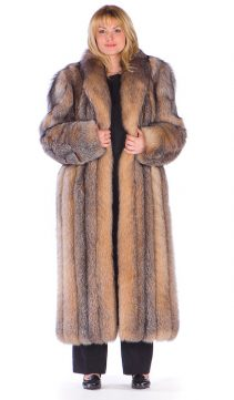 Fox Fur Coats for Women-Fox Fur Coat Plus Size-Crystal Fox Fur