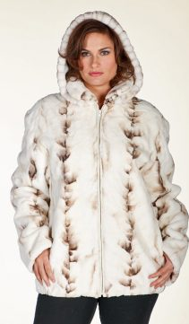 real mink jacket women-plus size zippered jacket-winter birch mink