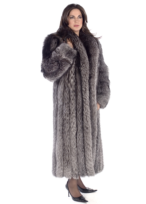 Silver Fox Coat – Shawl | Madison Avenue Mall Furs | Madison ...