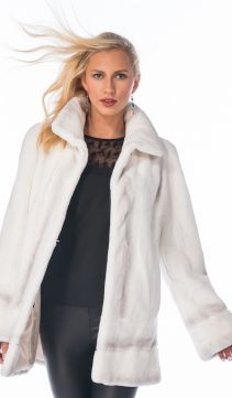 real rabbit fur jacket-natural white fur winter jacket-white cream