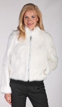 genuine zippered real rabbit fur jacket-natural rabbit jacket real fur-short zippered jacket