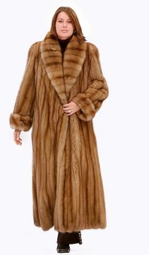 Sable Fur Coat - Full Length Shawl Collar