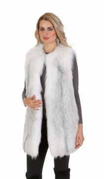 fox vest-fox fur vest-fur vest genuine-natural fox fur vest