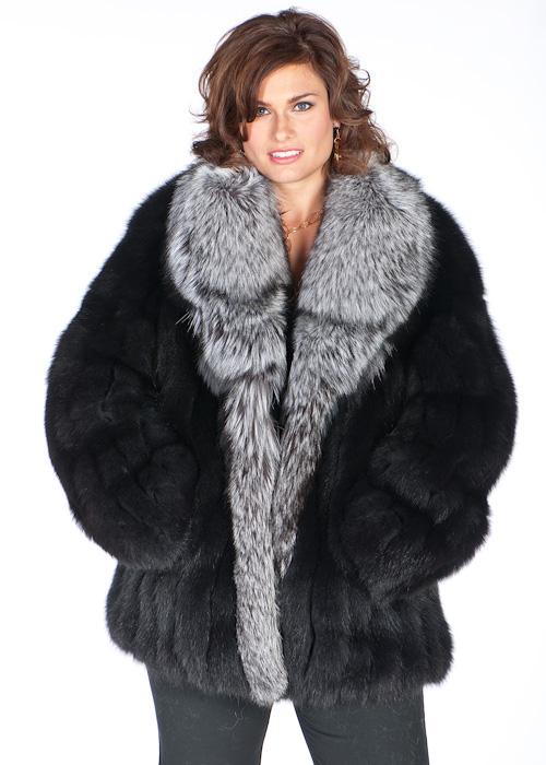 black fox fur jacket-silver fox fur shawl-genuine fox fur jacket womens e376746fff62
