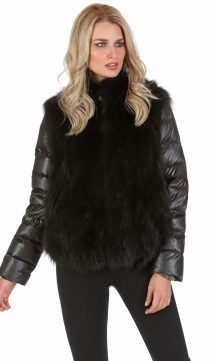 fox womens jacket-fox fur jackets for women-fox fur vest-real fur jacket black