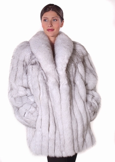 natural fox fur jackets for women-natural real blue fox fur