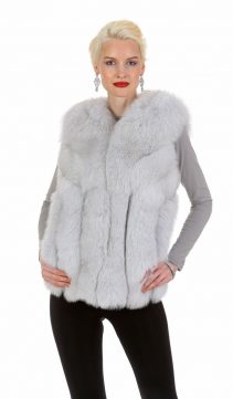 fox fur vest natural-fur vest genuine-directional designs