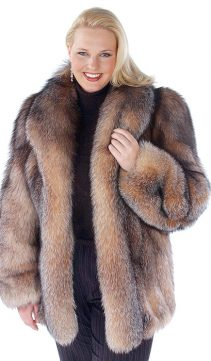 fox jacket-fox fur jackets-fox fur real-crystal-genuine fox fur