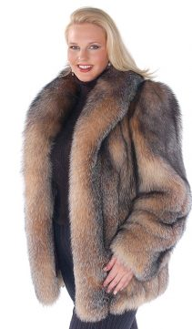 fox fur jacket for women-real fur jackets-crystal-women fox fur jacket plus size
