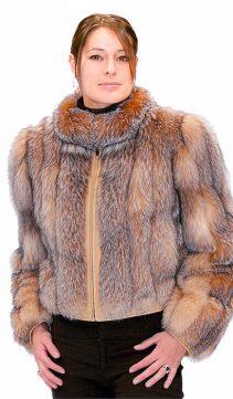 Crystal Fox-Zippered-Jacket-Fox-Fur-Jacket