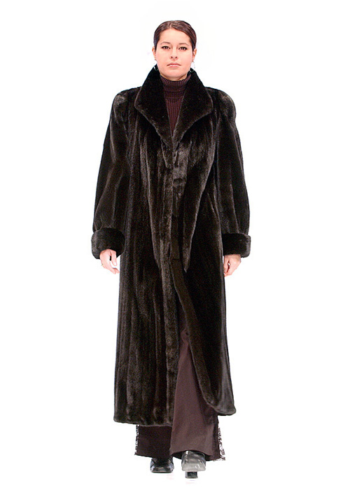 genuine mink coat-deluxe ranch mink-turned back cuffs