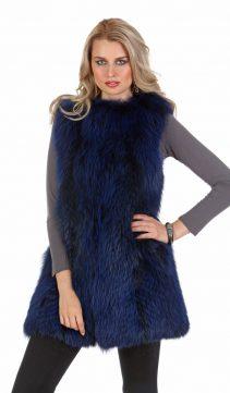 Royal-Blue-Fox-Fur-Vest-213988 closed