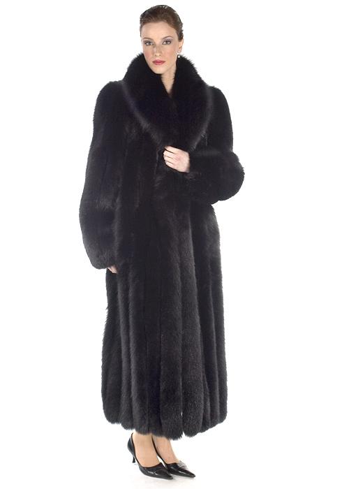 ba370659b Fox Fur Coat – Black Fox Fur Coat Full Length | Madison Avenue Mall ...