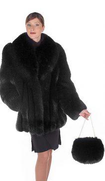 fox jacket-real fox fur jackets for women-black fox fur-fur jacket fox
