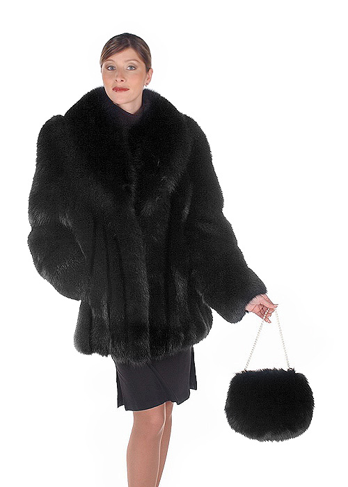 2067bbcb5 fox jacket-real fox fur jackets for women-black fox fur-fur jacket