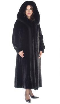 mink coat-ranch mink-fox fur trimmed