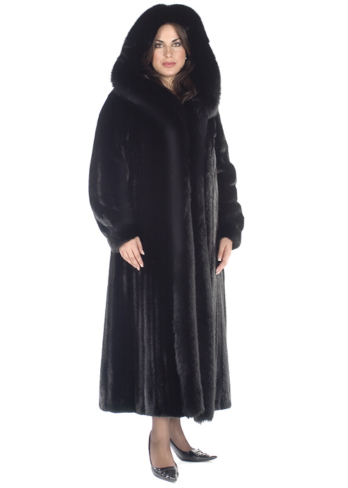 Fox Trimmed Ranch Mink Coat | Madison Avenue Mall Furs | Madison ...