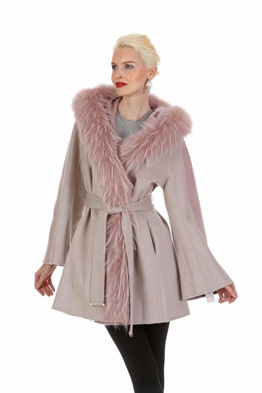 Guy Laroche Cashmere Coat Jacket – Reversible Morning Beige to ...